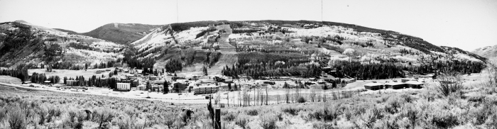 Town of Vail, early 1960s. Photograph Curiosity of Denver Public Library.